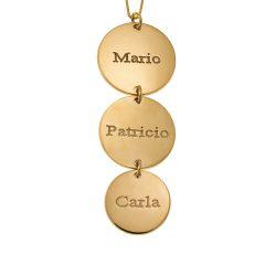 Vertical Plättchen Halskette gold