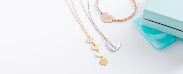 heart jewelry mobile banner