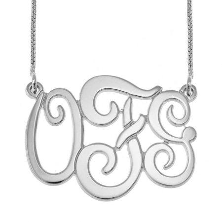 Monogramm Halskette mit drei Initialen