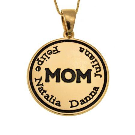 Gravierte Mutter-Plättchen-Halskette