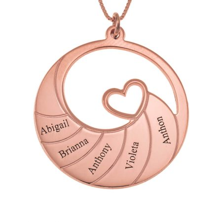 Spiral-Halskette mit fünf Namen