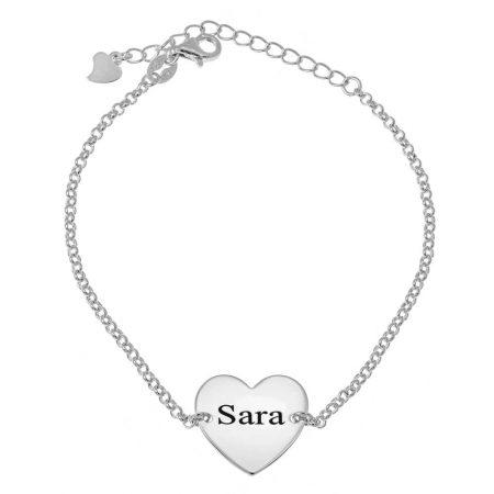 Herz-Namensperlen-Armband