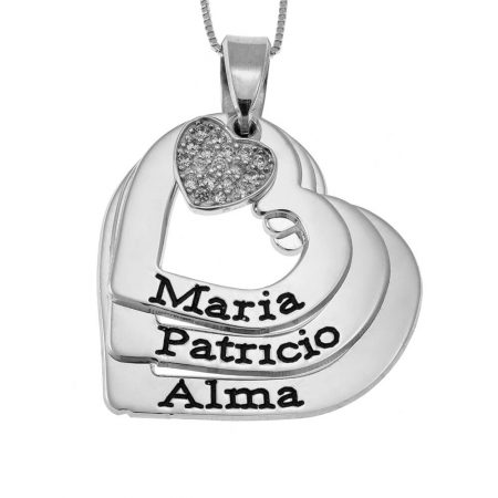Herz-Namen-Halskette mit Inlay Herz