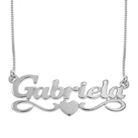 Mittleres Herz Namen Halskette