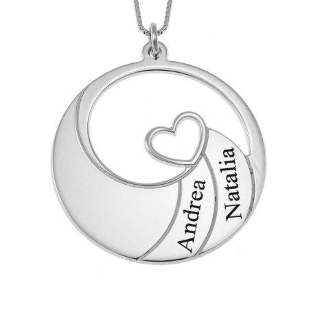 Spiral-Halskette mit zwei Namen