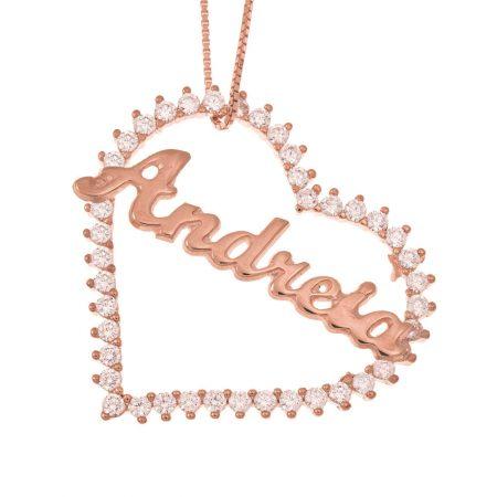Namen Halskette mit großem Herz
