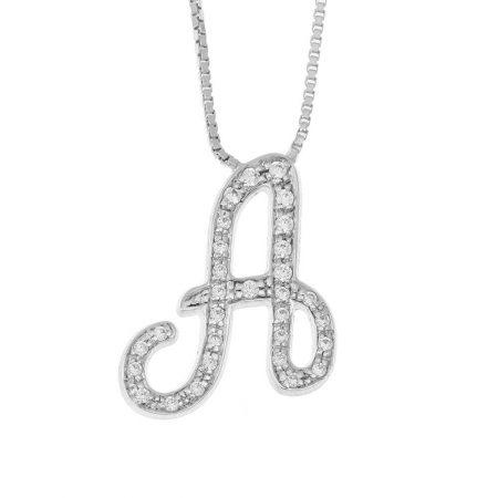 Funkelnde Initialen-Halskette