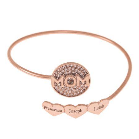 Inlay Mutter-Flex-Armband mit Herzen