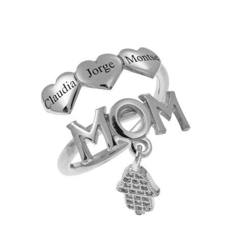 Mutter-Namen Ring mit Herzen