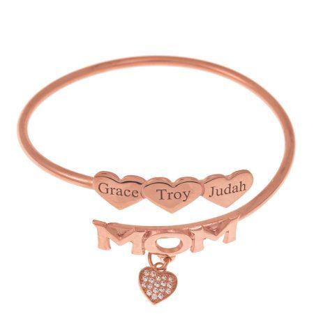 Mutter-Flex-Armband mit Herzen
