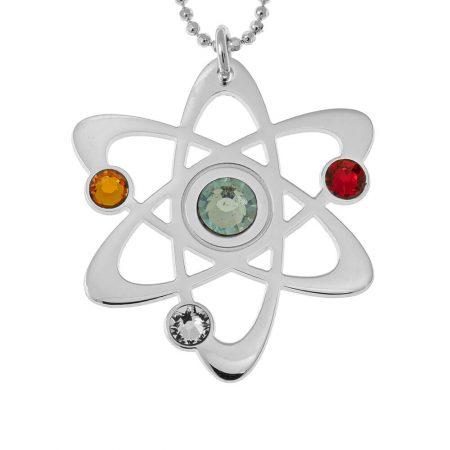 Atom-Halskette mit Geburtssteinen