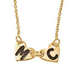 Attached Forever Herzen Halskette gold