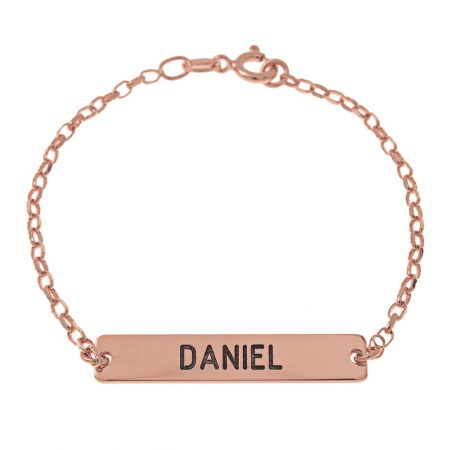 Zierlich Stab Name Armband