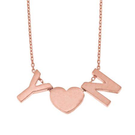 Klobihe Initialen Herz-Halskette