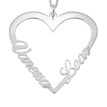 Herz-Namen-Halskette für Paare