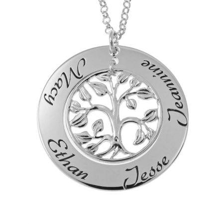 Ausgeschnittene Familienstammbaum-Namen-Halskette
