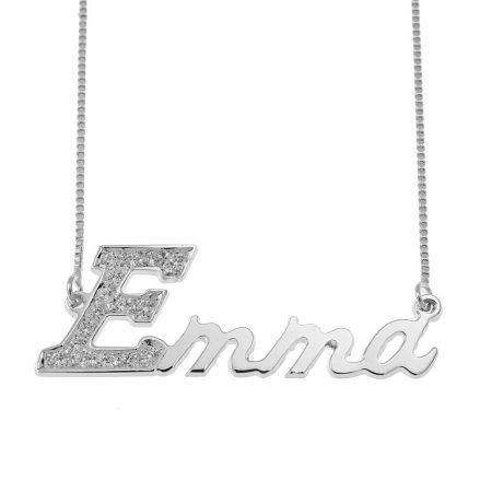 Halskette mit Swarovski für den ersten Buchstaben des Namens