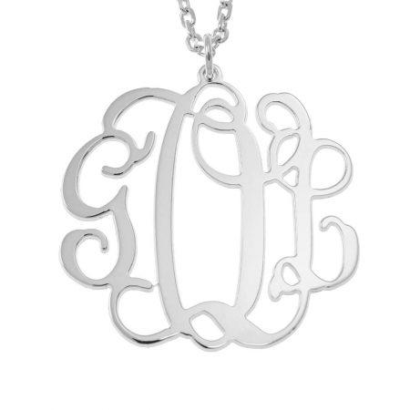 Halskette mit hängendem Monogramm