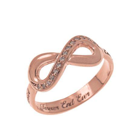 Inlay Infinity Ring mit Gravur