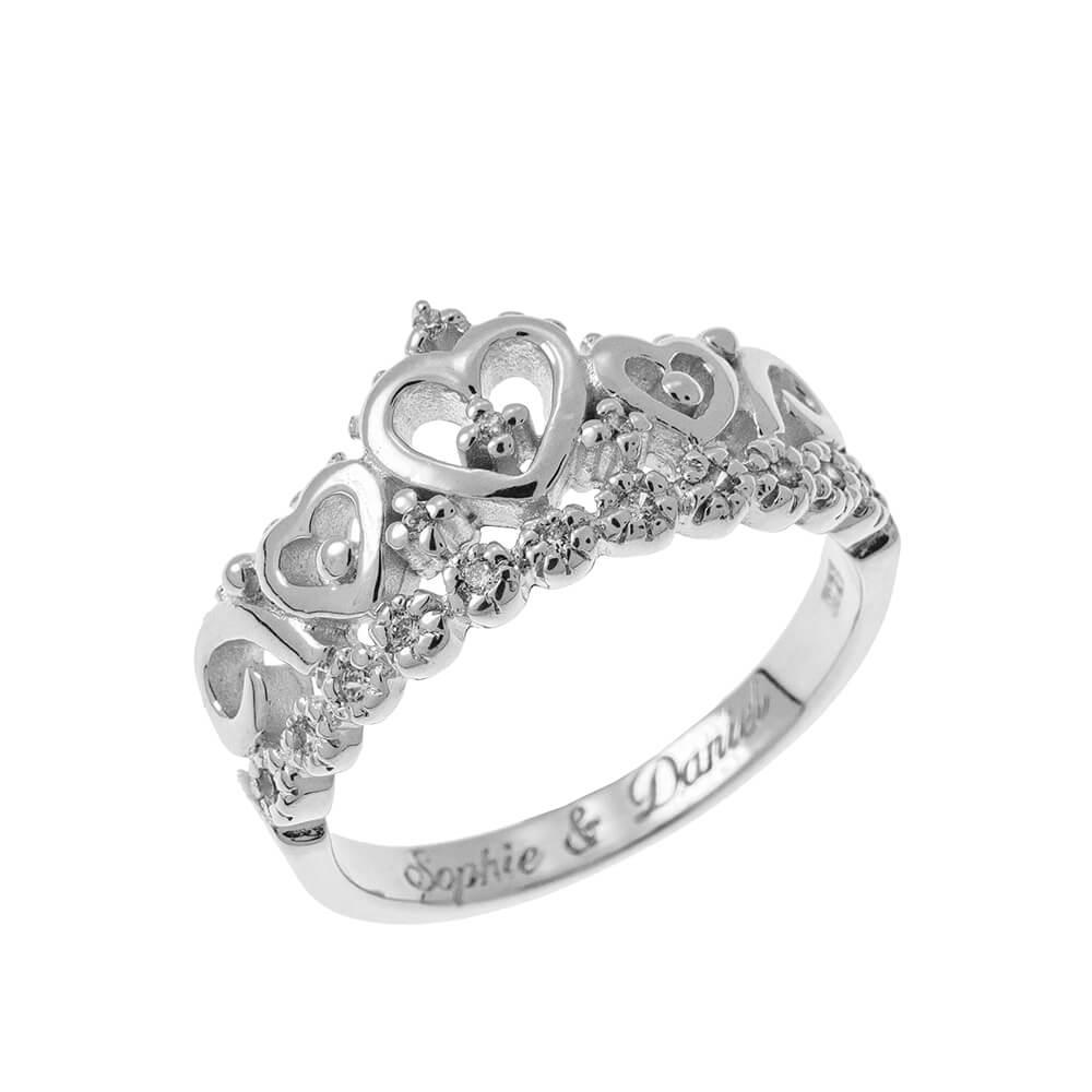 Inner Gravur Crown Ring silver