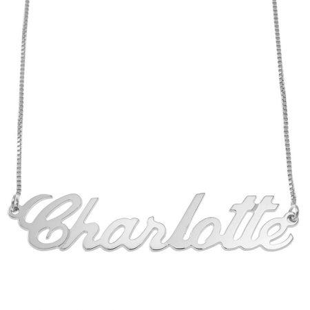 Justin Style Box Name Halskette