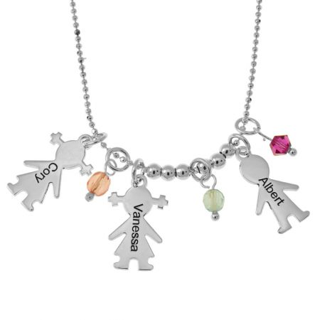 Charms und Geburtssteine für Kinder Halskette