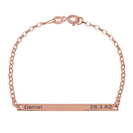 Armband mit Namen und Datumsschild
