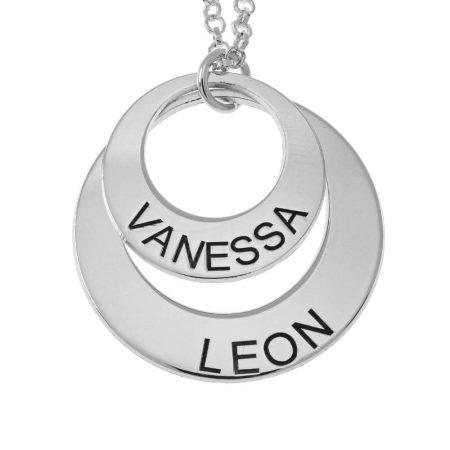 Halskette mit zwei Namenskreisen