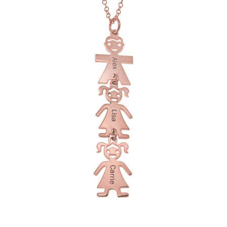 Vertikale Mutter Halskette mit Kindern