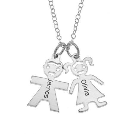 Horizontale Mutter Halskette mit Kindern
