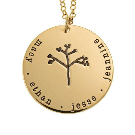 Plättchen-Stammbaum-Halskette