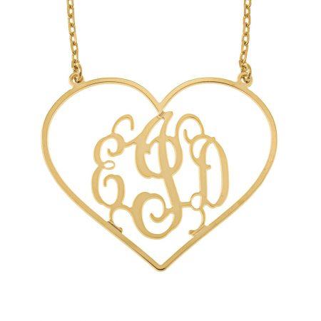 Halskette mit Monogramm in Herzform