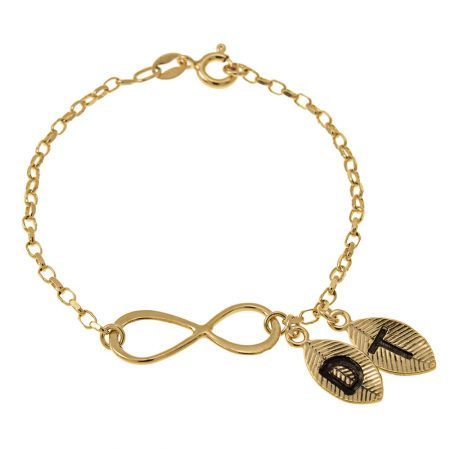 Infinity und Blätter-Armband