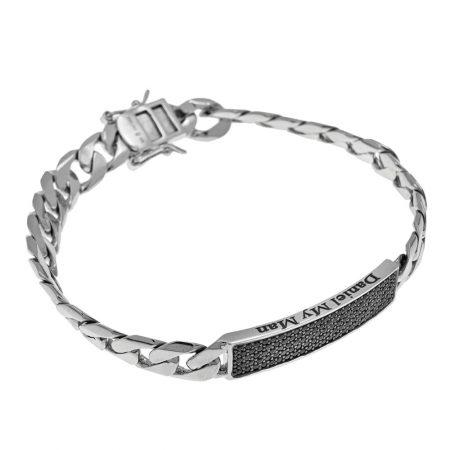 Inlay Gourmette-Armband für Männer