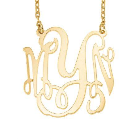 Große Halskette mit vier Monogramm-Initialen