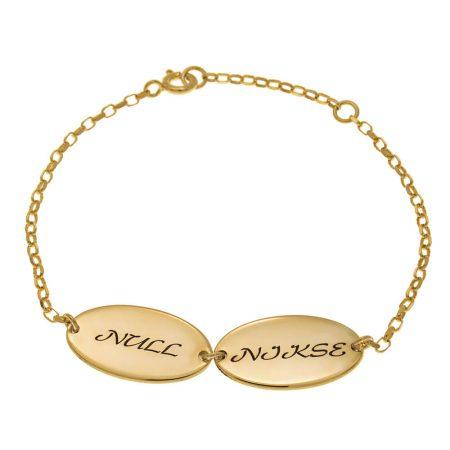 Ovales Design Mutter-Armband mit Kindernamen