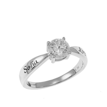 Personalisierter Solitär-Ring