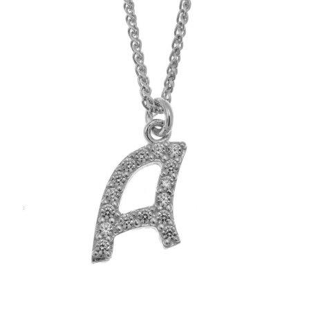 Kleine funkelnde Initialen-Halskette