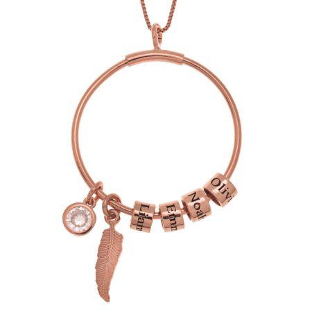 Kreis-Halskette mit Namensperlen und Kristallzauber