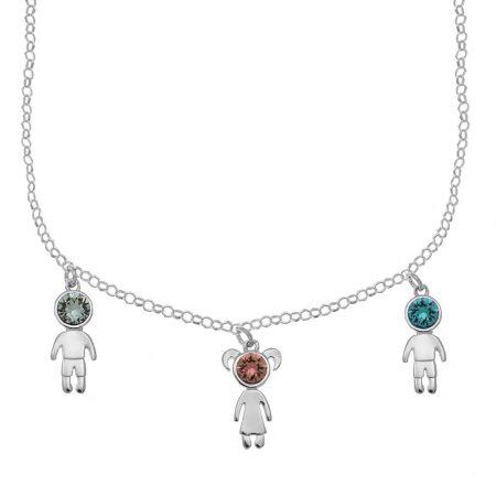Halskette mit Geburtsstein Kinder-Charms