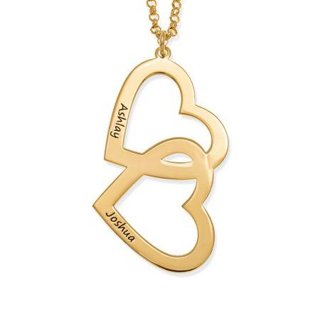 Herz in Herz-Halskette